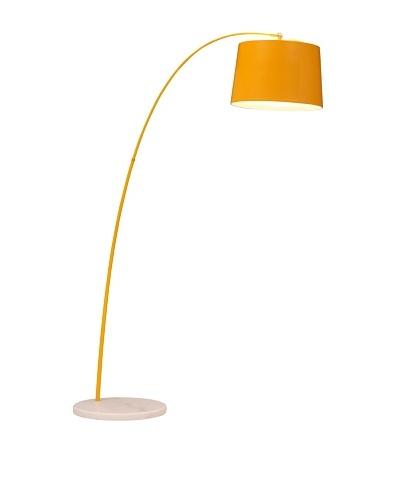 Zuo Twisty Floor Lamp, Yellow/White