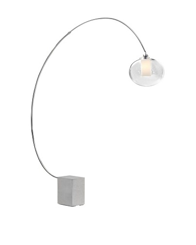 Zuo Plasma Floor Lamp, Chrome