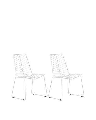 Zuo Set of 2 Wendover Dining Chairs, White