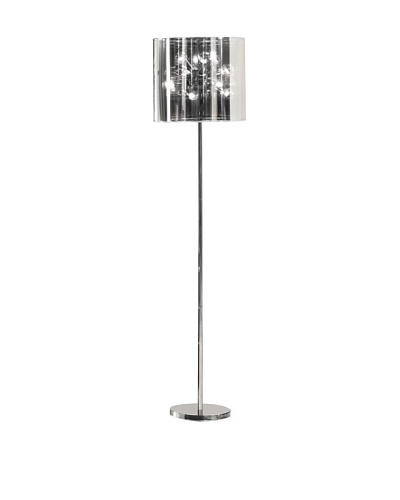 Zuo Quasar Floor Lamp, Chrome