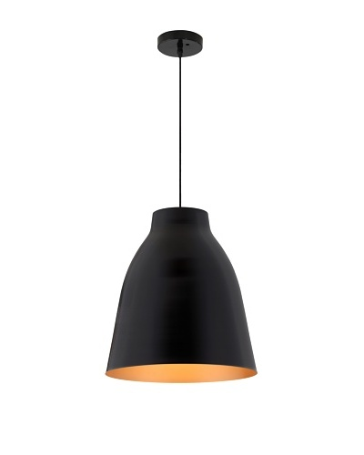 Zuo Bronze Ceiling Lamp, Matte Black