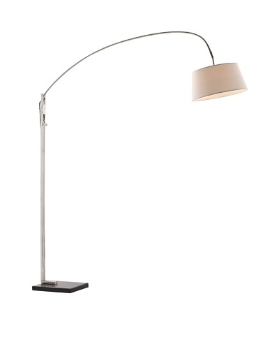 Zuo Alpha Floor Lamp, Chrome