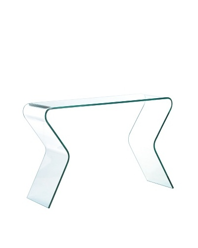 Zuo Respite Console Table, Clear