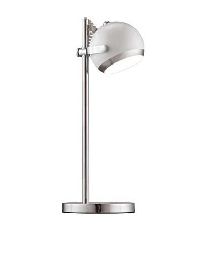 Zuo Cyber Table Lamp, White/Chrome