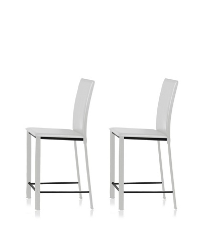 Zuo Set of 2 Arcane Counter Chairs [White]