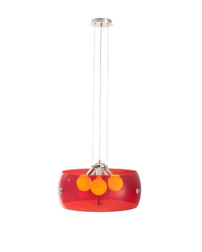 Zuo Asteroids Ceiling Lamp, Red