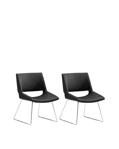 Zuo Set of 2 Von Dining Chairs [Black]