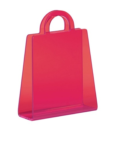 Zuo Purse Magazine Rack, Transparent PinkAs You See