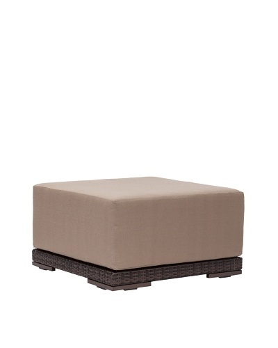 Zuo Outdoor Park Island Ottoman, Brown