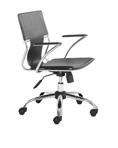 Zuo Trafico Office Chair, Black