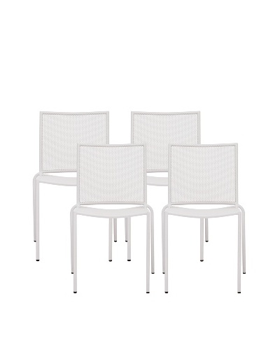 Zuo Set of 4 Outdoor Repulse Bay Chairs, White