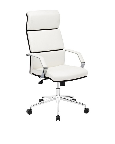 Zuo Lider Pro Office Chair, White