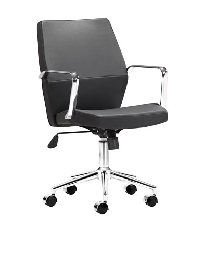 Zuo Holt Low-Back Office Chair, Black