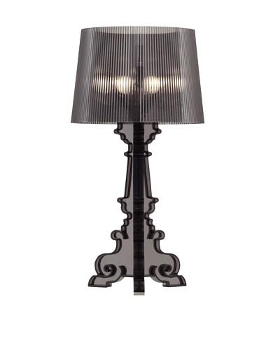 Zuo Salon L Table Lamp, Translucent Black