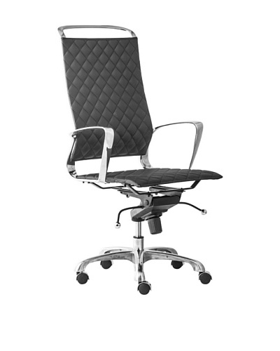 Zuo Jackson High-Back Office Chair, Black