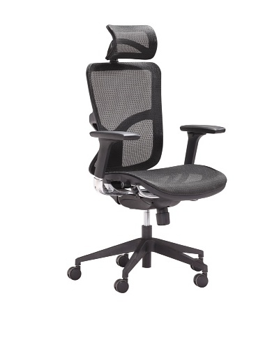 Zuo Harlean High-Back Office Chair [Black]