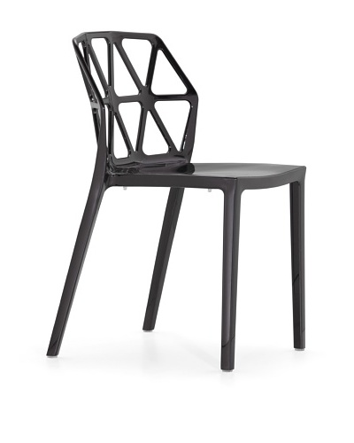 Zuo Set of 4 Juju Stacking Outdoor Dining Chairs [Black]