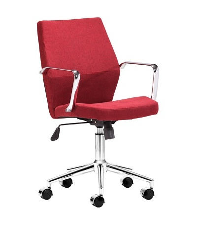 Zuo Holt Low-Back Office Chair, Red