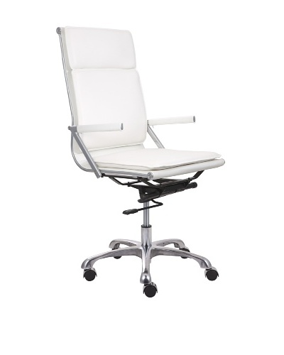 Zuo Lider Plus High-Back Office Chair, White