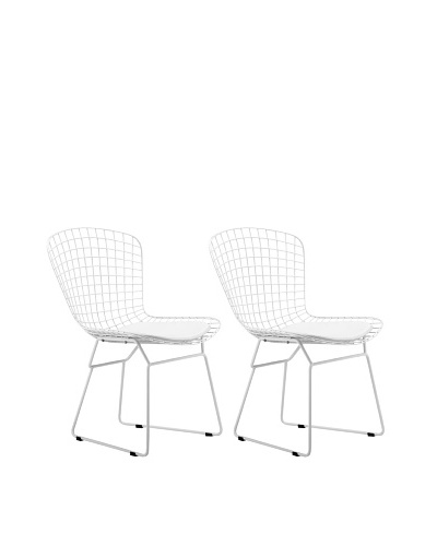 Zuo Set of 2 Wire Dining Chairs