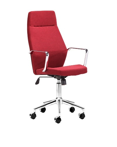 Zuo Holt High-Back Office Chair, Red