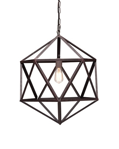 Zuo Amethyst Ceiling Lamp, Small, Rust