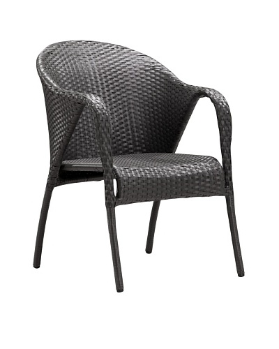 Zuo Outdoor Alma Chair, Espresso