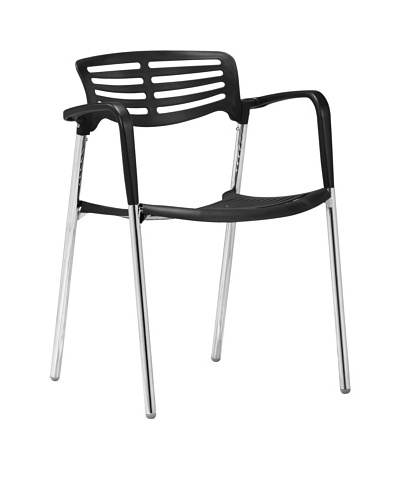 Zuo Modern Set of 4 Scope Dining Chairs, Black
