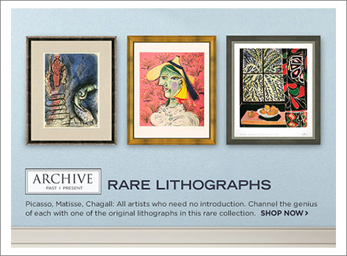Art Brand: Rare Lithographs